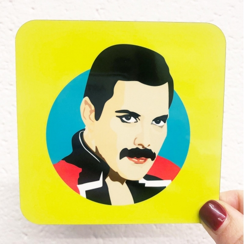 Freddie Mercury - personalised drink coaster by SABI KOZ