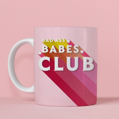 BAD ASS BABES CLUB - unique mug by Ania Wieclaw