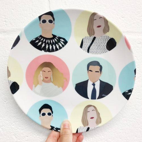David and Alexis Rose - personalised dinner plate by Cheryl Boland