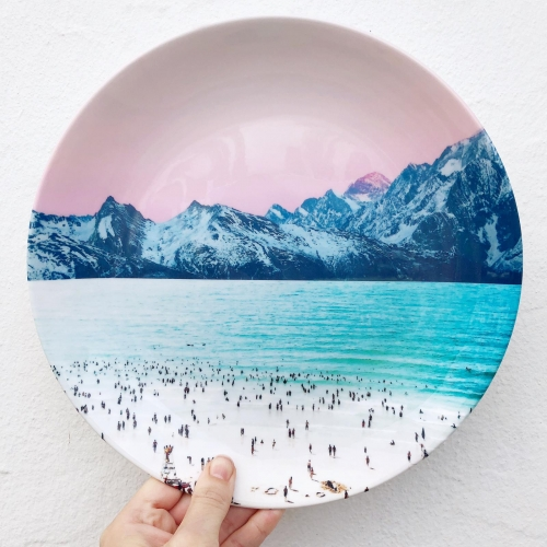 The Island - personalised dinner plate by Uma Prabhakar Gokhale