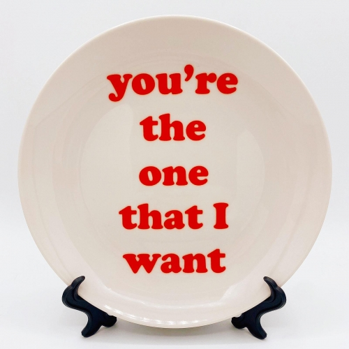 You're the one that I want - ceramic dinner plate by Adam Regester