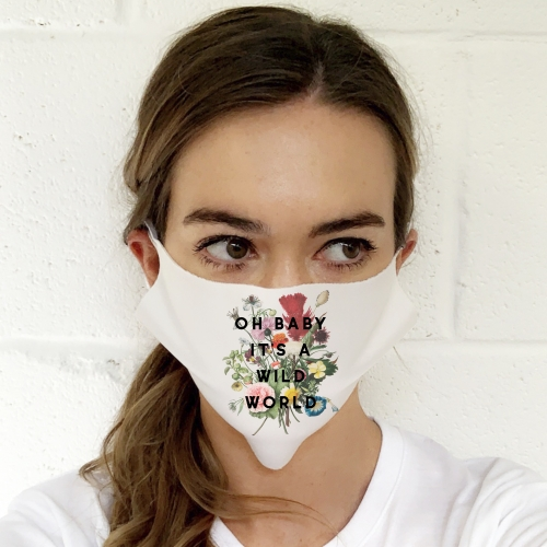 Oh Baby It's A Wild World - washable face mask by The 13 Prints