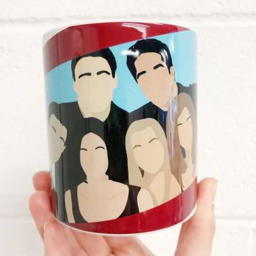 Friends portrait - unique mug by Cheryl Boland