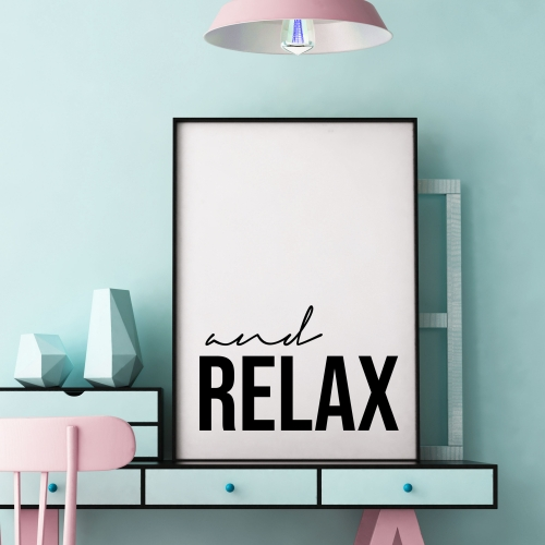and Relax - original print by Lilly Rose