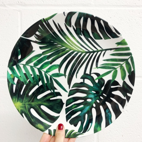 Tropical Dream V2 - personalised dinner plate by Uma Prabhakar Gokhale