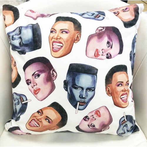Grace Faces - designed cushion by Helen Green