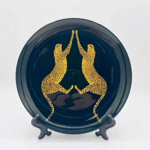 Mirrored Cheetahs - personalised dinner plate by Ella Seymour