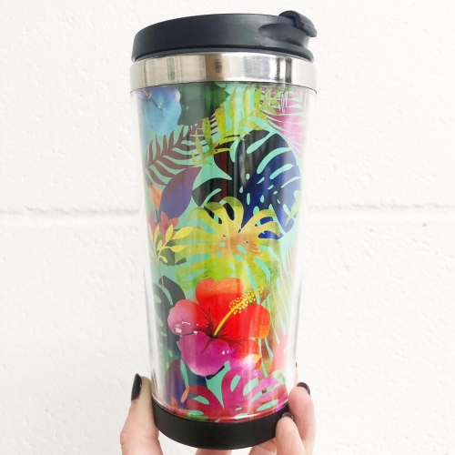 Hawaiian Hibiscus - travel water bottle by Chloe Taylor