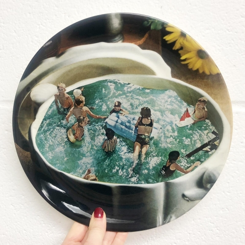Summer food - ceramic dinner plate by Maya Land