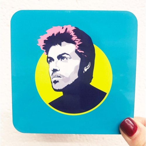 George Michael - personalised drink coaster by SABI KOZ