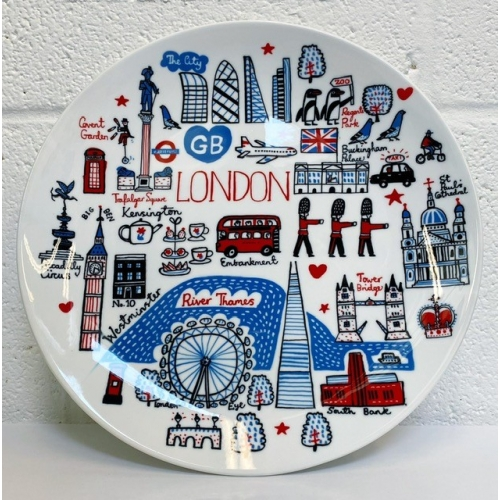 London - personalised dinner plate by Julia Gash