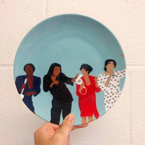 Living Single - personalised dinner plate by Cheryl Boland
