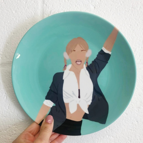 Britney Spears - ceramic dinner plate by Cheryl Boland