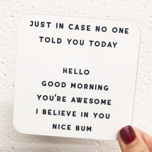 Nice Bum - personalised drink coaster by The 13 Prints