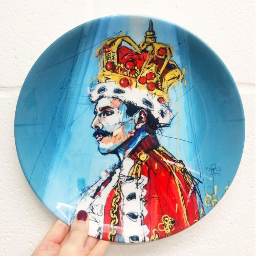 Royal Freddie - personalised dinner plate by Laura Selevos