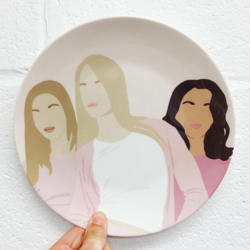Mean girls - personalised dinner plate by Cheryl Boland
