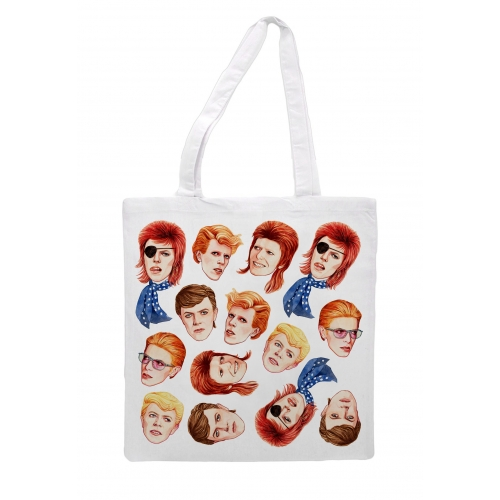 Fabulous Bowie - printed tote bag by Helen Green