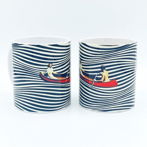 Illusionary Boat Ride - unique mug by taudalpoi