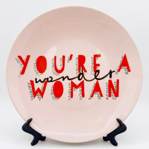 Wonder Woman - personalised dinner plate by Tess Shearer