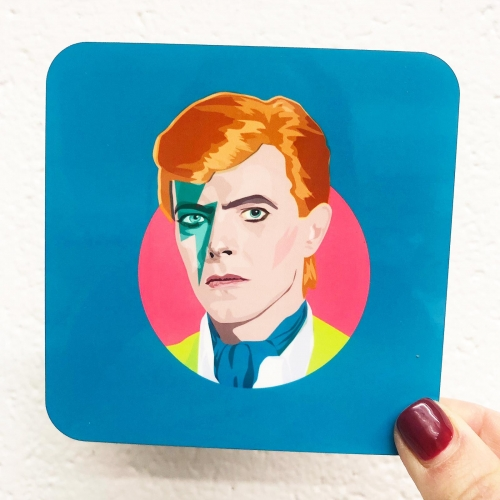 David Bowie - personalised drink coaster by SABI KOZ