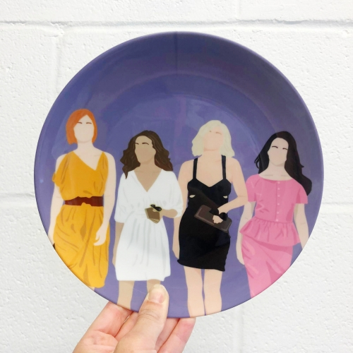 Sex and the city - ceramic dinner plate by Cheryl Boland