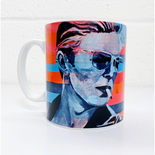 Neon Bowie - unique mug by Kirstie Taylor
