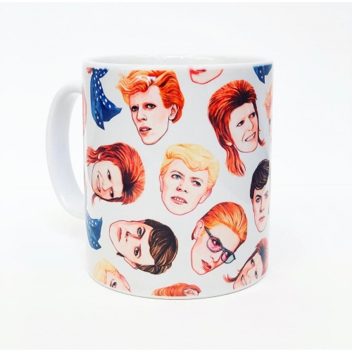 Fabulous Bowie - unique mug by Helen Green