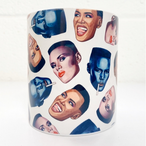 Grace Faces - unique mug by Helen Green
