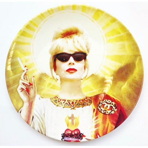 Patron Saint Of Fab - Patsy - personalised dinner plate by Wallace Elizabeth