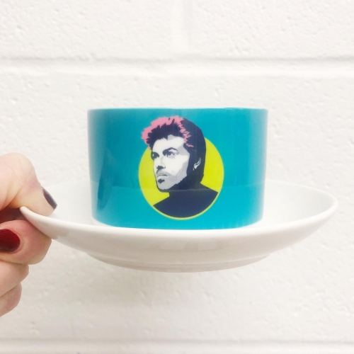 George Michael - personalised cup and saucer by SABI KOZ