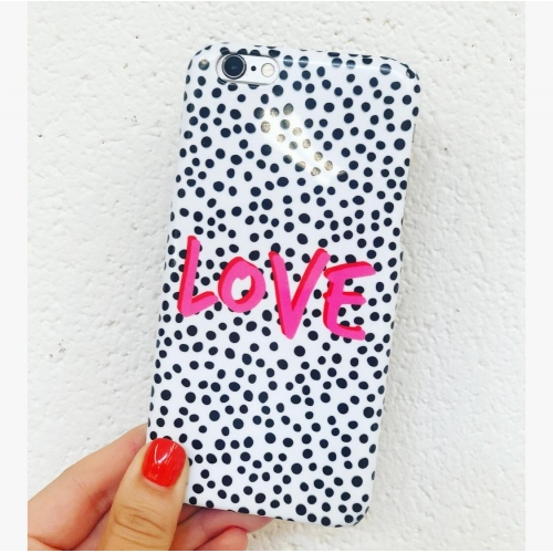LOVE Polka Dot - unique phone case by The 13 Prints