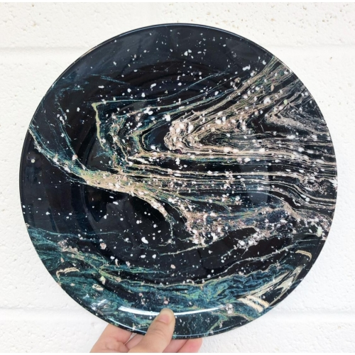 Possible - ceramic dinner plate by Uma Prabhakar Gokhale