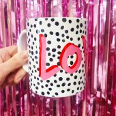 LOVE Polka Dot - unique mug by The 13 Prints