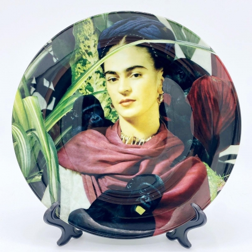 Frida with Monkeys - personalised dinner plate by Maya Land