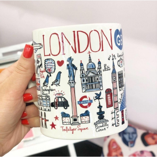 London - unique mug by Julia Gash
