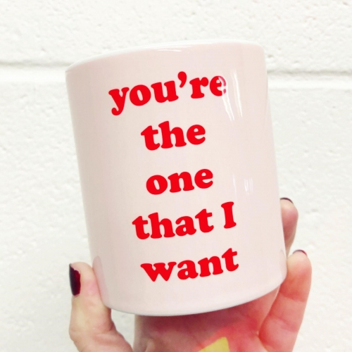 You're the one that I want - unique mug by Adam Regester