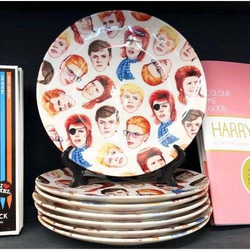 Fabulous Bowie - personalised dinner plate by Helen Green