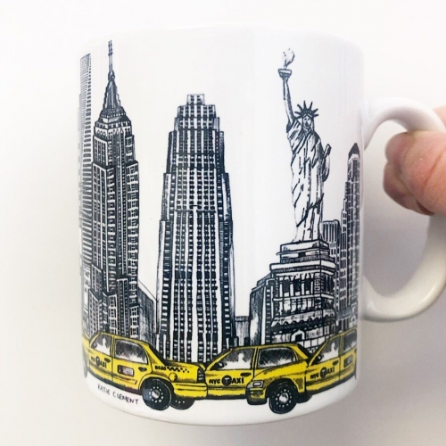 New York City Skyline - unique mug by Katie Clement