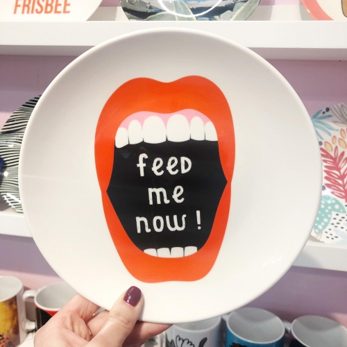 Feed Me Now ! - personalised dinner plate by Adam Regester