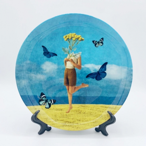 Summer vibes - personalised dinner plate by Maya Land