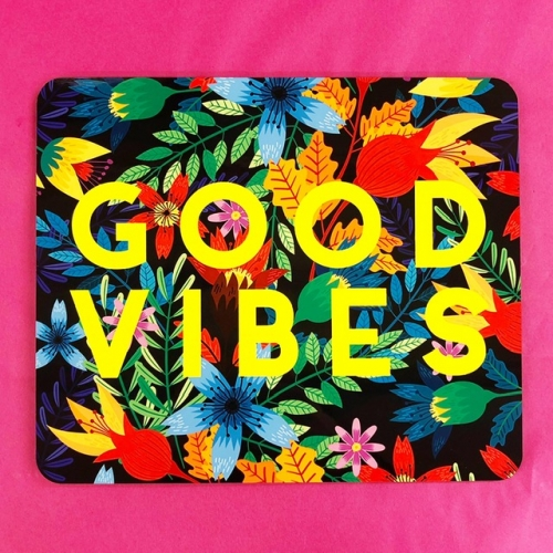 Good Vibes Flowers - photo placemat by The 13 Prints