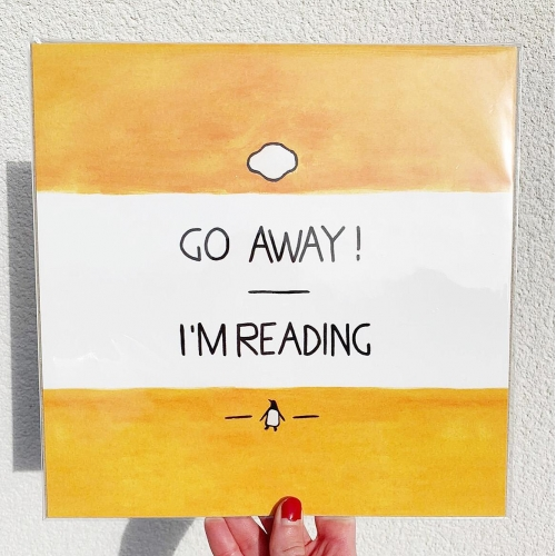 Go Away, I'm Reading - Watercolour Illustration - original print by A Rose Cast - Karen Murray