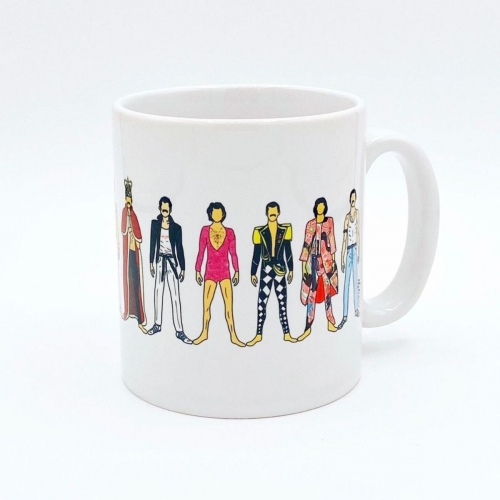 Freddie - unique mug by Notsniw Art