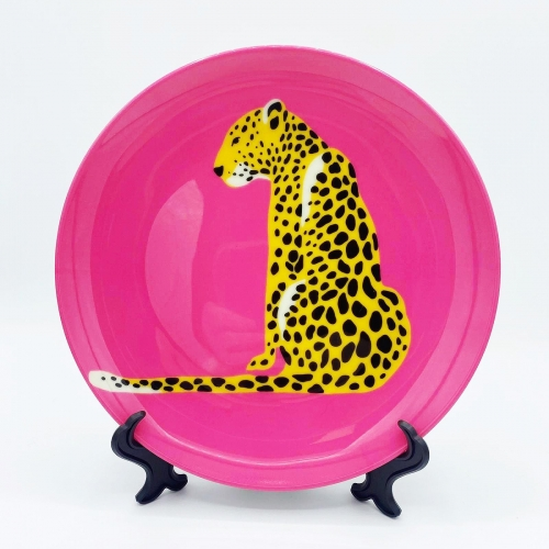 A Leopard Sits - personalised dinner plate by Wallace Elizabeth
