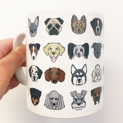 Dogs - unique mug by Kitty & Rex Designs