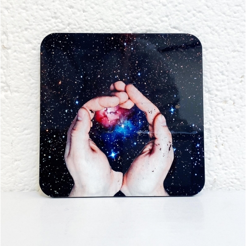 Catching the stars - personalised drink coaster by Maya Land
