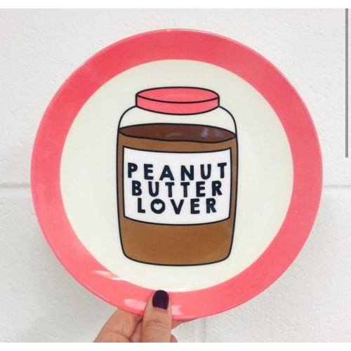 Peanut Butter Lover - personalised dinner plate by Stephanie Komen