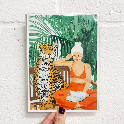 Jungle Vacay II - original print by Uma Prabhakar Gokhale