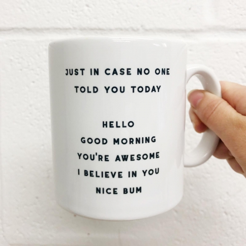 Nice Bum - unique mug by The 13 Prints