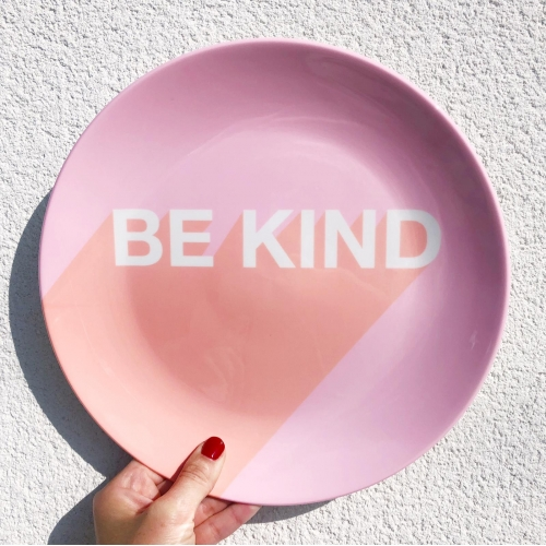 Be Kind Typographic Design - personalised dinner plate by Adam Regester